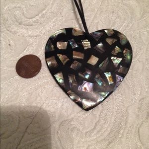 Jewelry - Inlaid Mother of Pearl Heart Necklace
